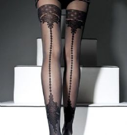 Fiore Apriel Mock Holdup Seamed Tights